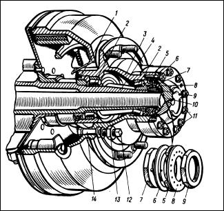 Ступица заднего колеса автомобиля ЗИЛ-431410